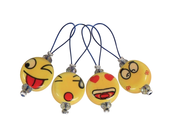 "Zooni Stitch Markers ""Smileys"""