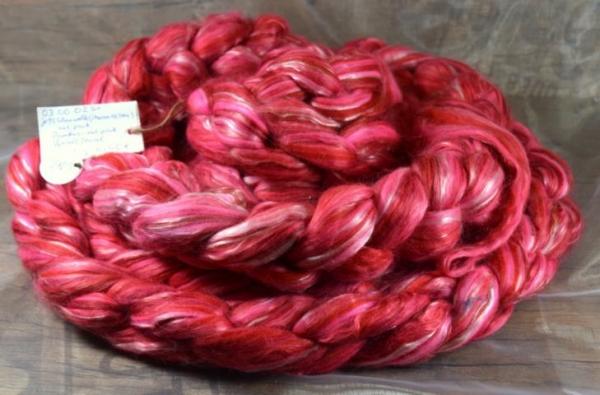 Www Spinnertundgewollt De Merino 18 5 Mic Rot Und Pink Bambus Rot